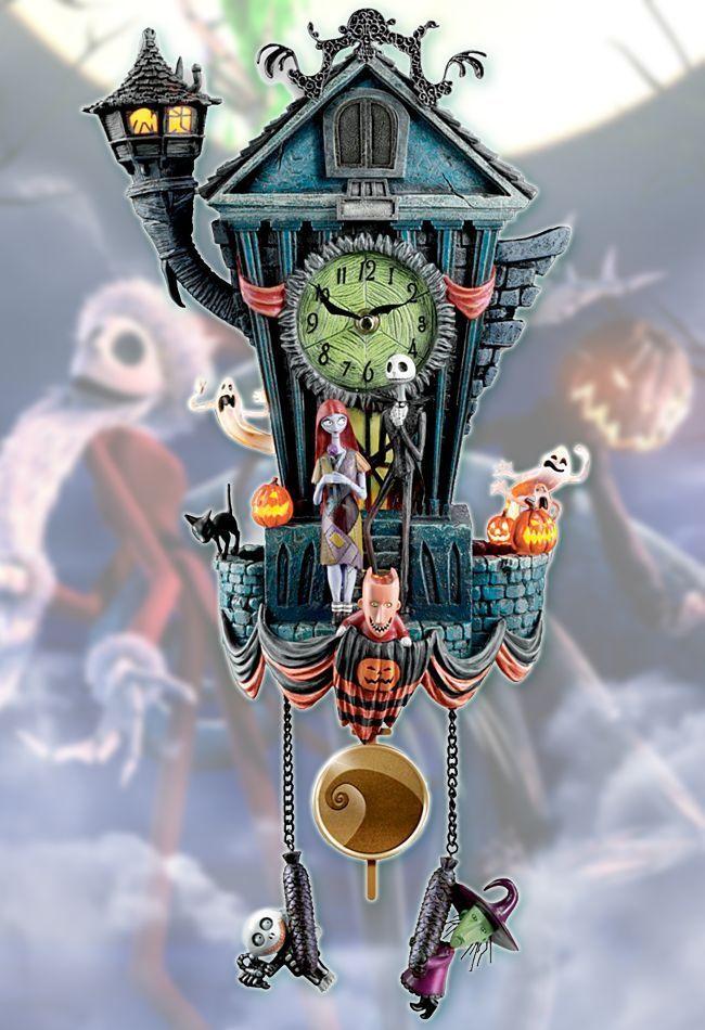 Tim Burton NIGHTMARE BEFORE CHRISTMAS Cuckoo Clock Disney Licensed ...