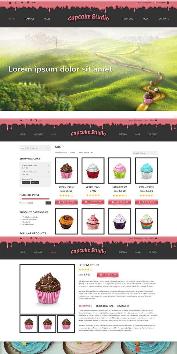 Cupcake Studio Bootstrap Site Theme (With images) Theme