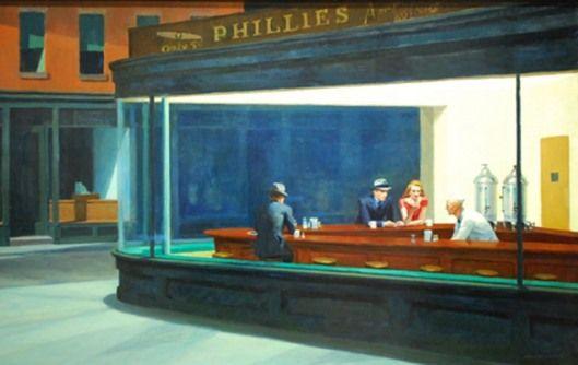 Nighthawks at the Diner   Edward hopper, Edward hopper paintings, Art  institute of chicago
