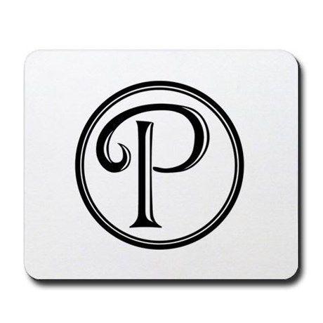 Letter P Monogram Minimalist Black White Circle Mobile