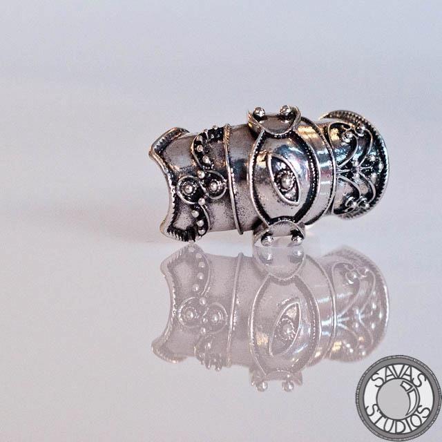silver armor ring