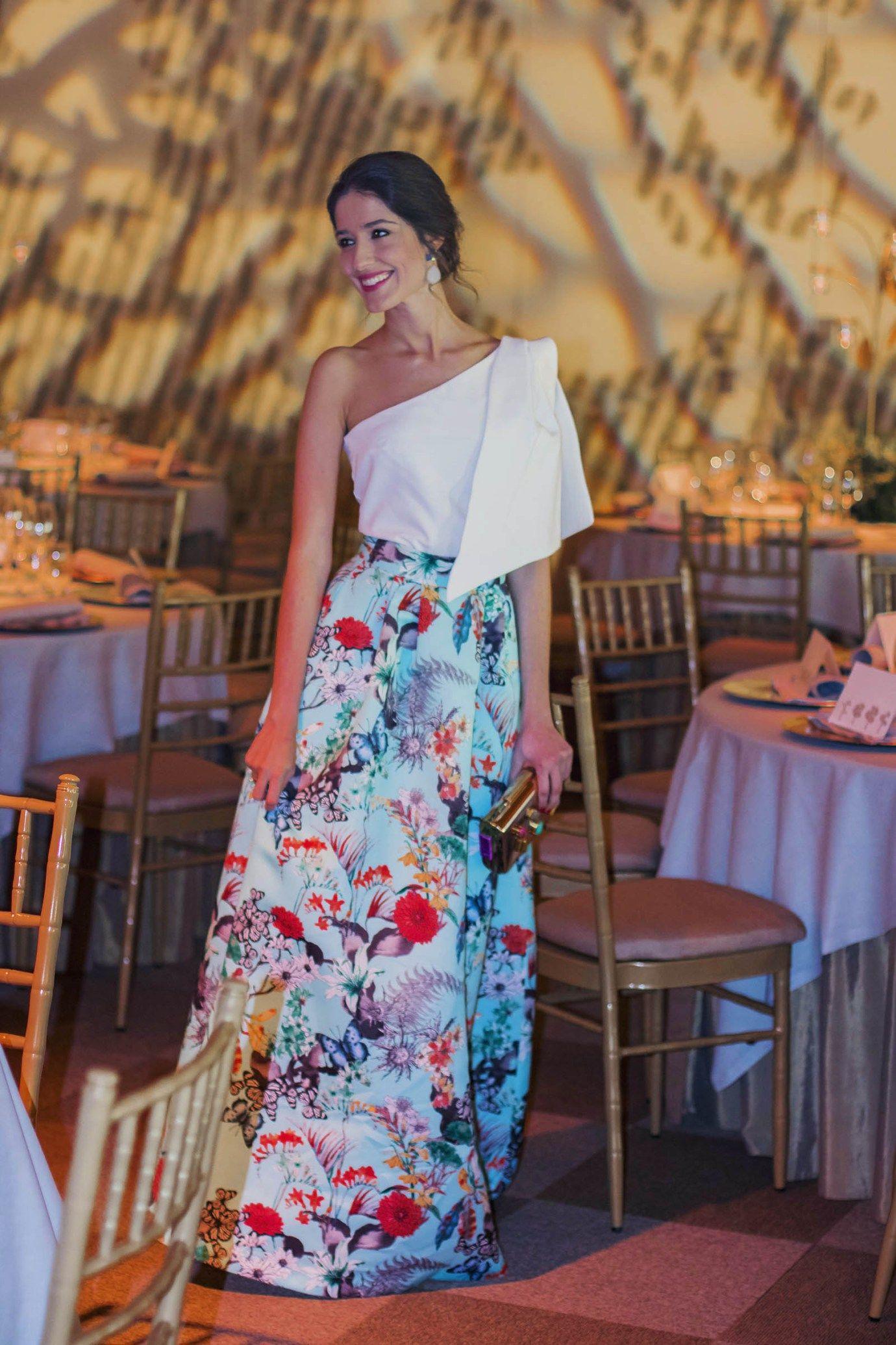 0251e9abb9f3 Invitada boda tarde noche falda estapada volumen Apparentia ...