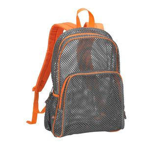 mesh backpack - love the orange and gray. Great boy colored option ... 9d24099bb7