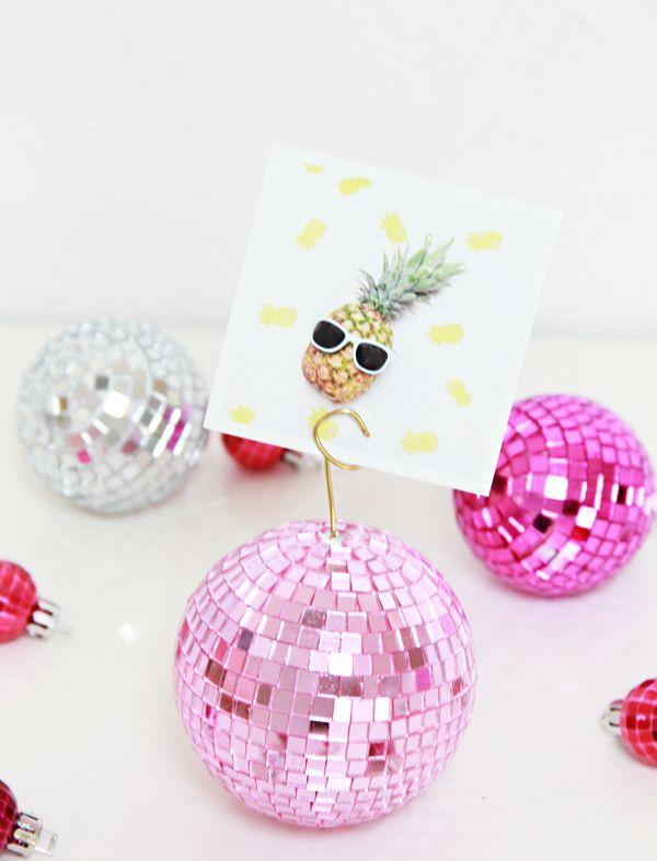 Diy Disco Ball Photo Holders