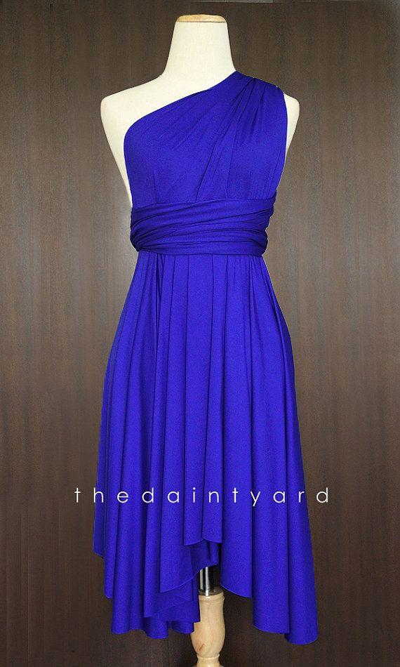 Royal Blue Bridesmaid Dress Convertible Dress Infinity Dress ...