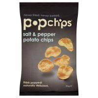 Popchips potato chips salt & pepper 85g