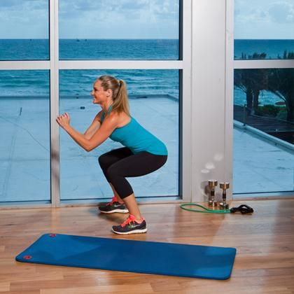Are you up for the challenge of the leg burnout workout? 50 squats, 50 alternating forward lunges, 50 jump squats, and 50 jumping lunges. Complete the full sequence twice, resting just enough to catch your breath!