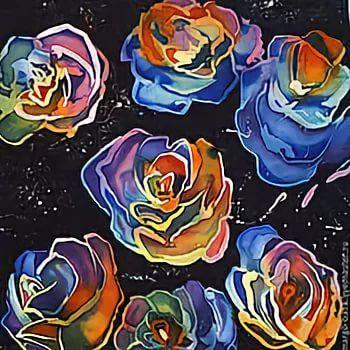 платок батик крупный цветок: 10 тыс изображений найдено в ...