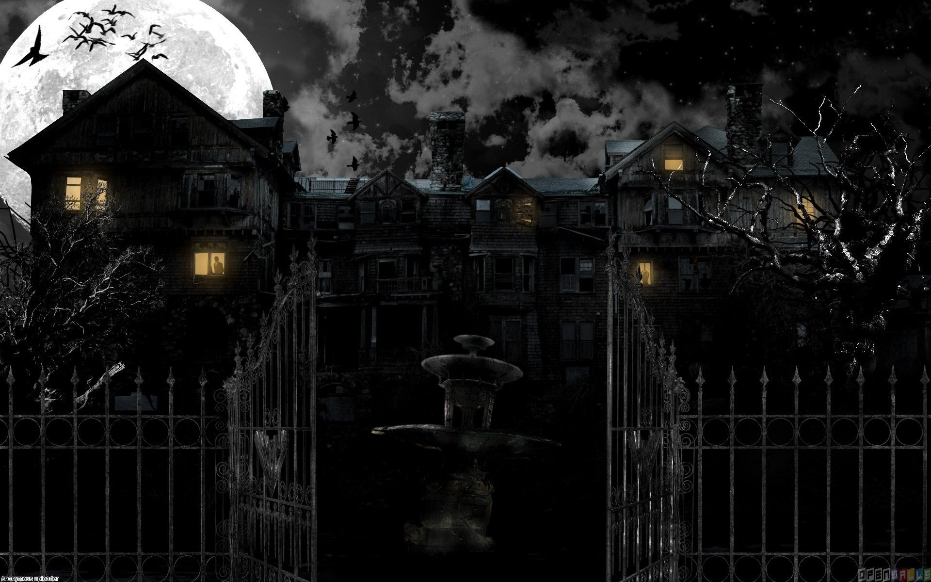Scary Haunted Mansions Haunted House Wallpaper 18362 Open