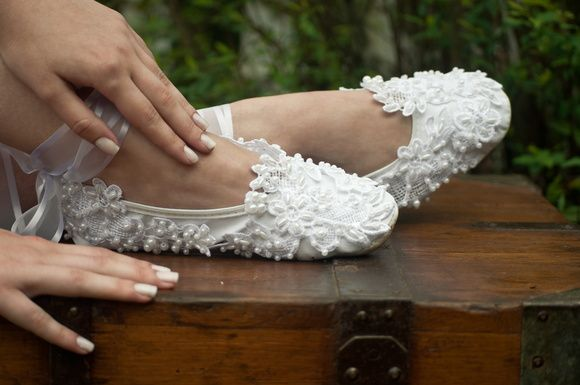 Sapatilha Ballet Bordado Fácil
