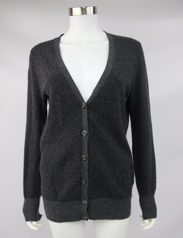 J. Crew Womens Medium Gray Dream Varsity Stripe Wool Cashmere ...