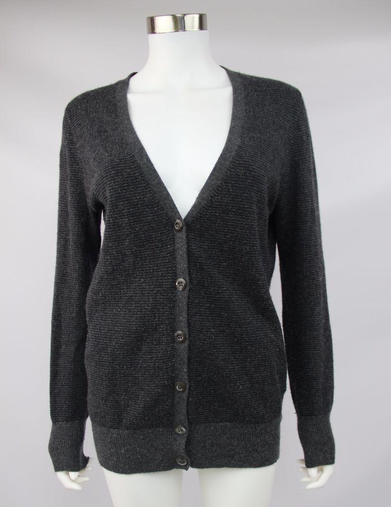 J. Crew Womens Medium Gray Dream Varsity Stripe Wool Cashmere ...