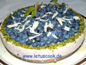 Heidelbeer-Kaese Torte  -  ყველის ტორტი მოცვით (Cheesecake)