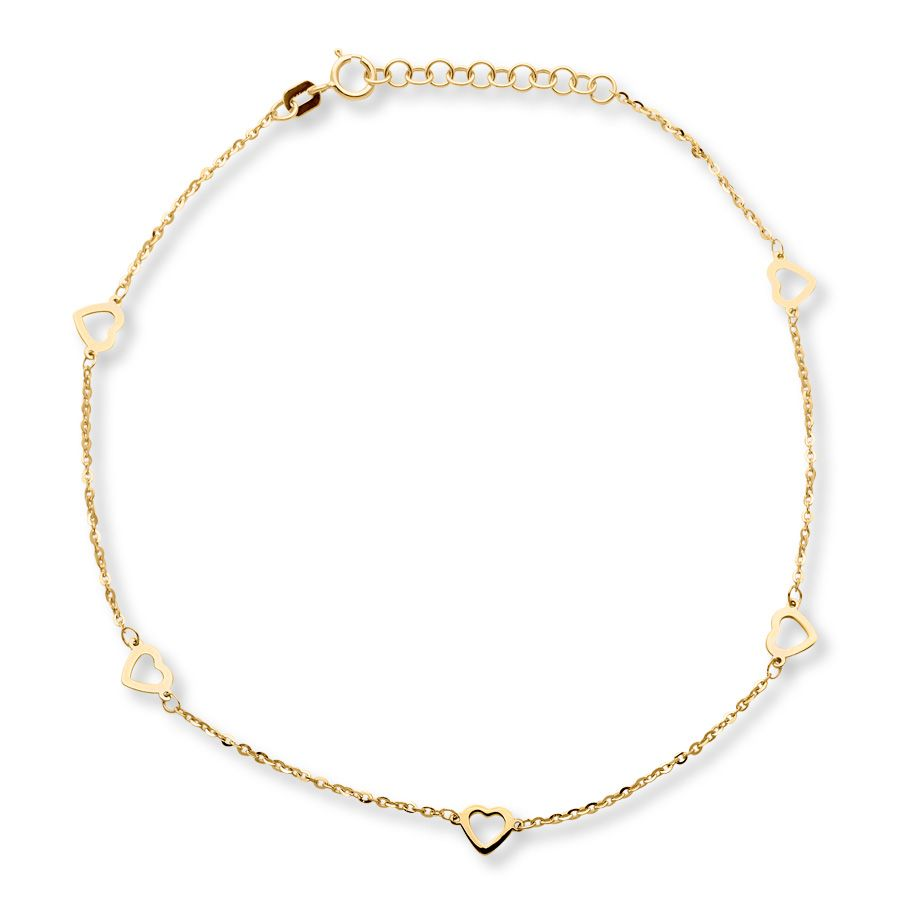 gold ankle chain figaro anklet bracelet pin for anklets her women charm bee