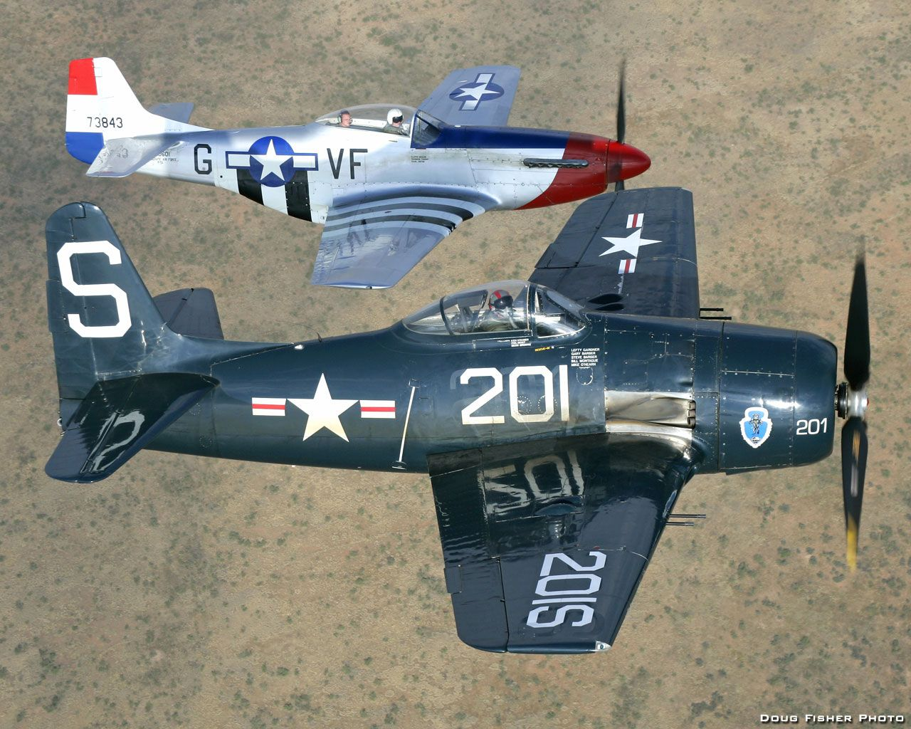 p 51 mustang and f8f 2 bearcat 2 warbirds with one stone i built