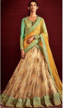 adbd012d2d49 Yellow Color Net Lehenga Style Designer Stitched Sari Blouse   FH502176776 # party , #wear, #saree, #saris, #indian, #festive, #fashion, #online,  #shopping, ...