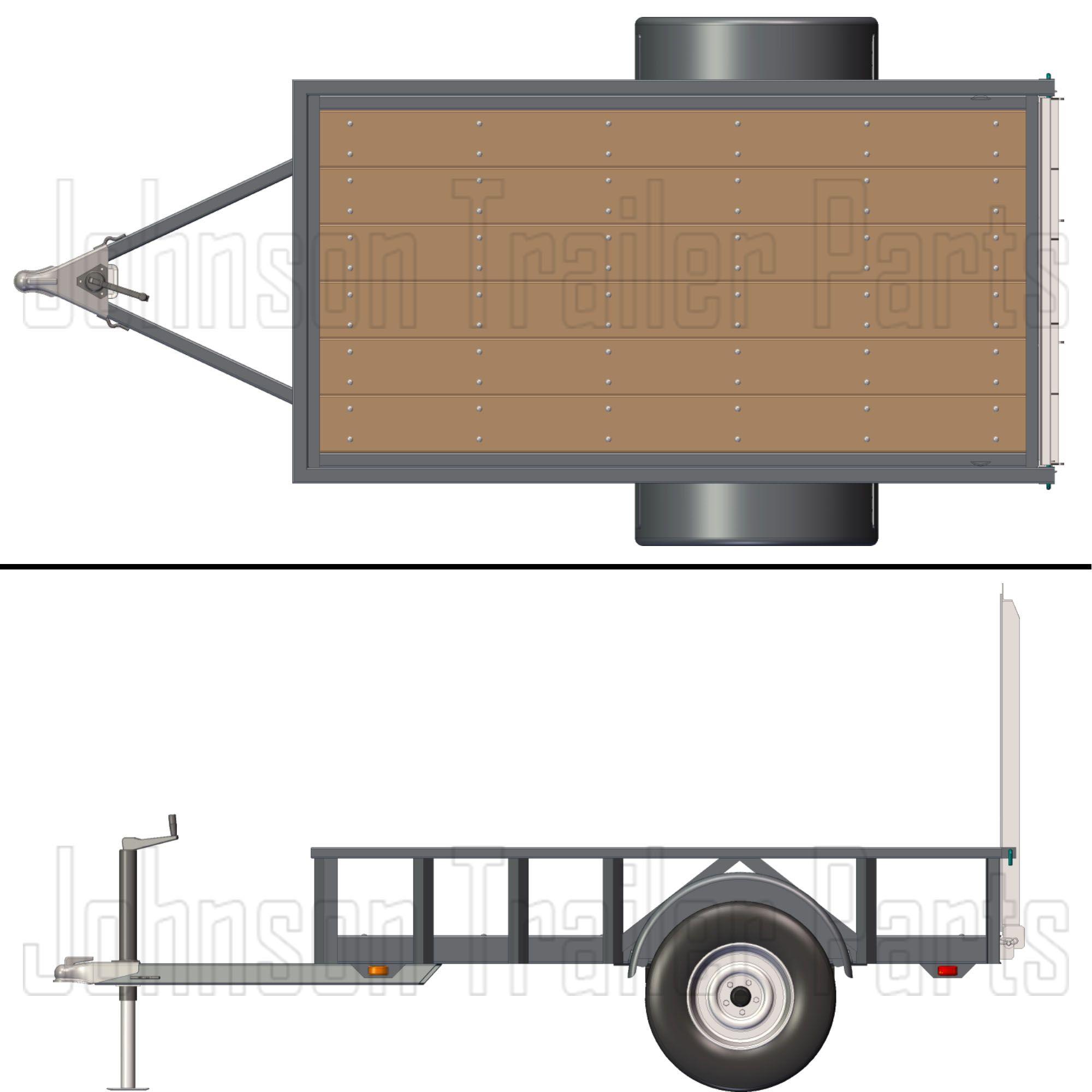 4 X 8 Utility Trailer Plans Blueprints 3 500 Lb Capacity Trailer Plans Utility Trailer Trailer