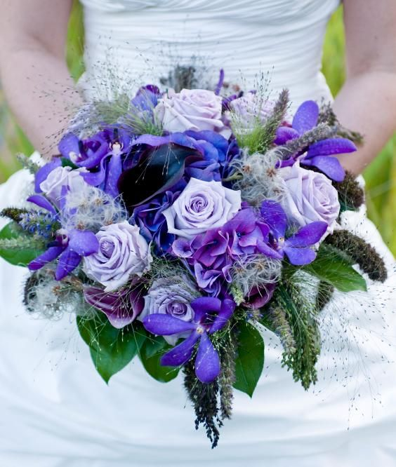 Best Blue Wedding Bouquets Flower Bouquet Wedding Purple