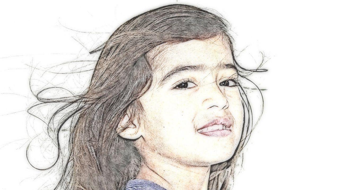 How to transform photos into color pencil drawings using gimp photosho