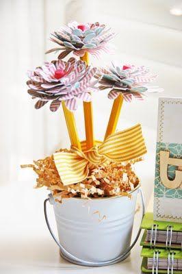 Gift for teachers, lovely! #teachers #scrapdecor