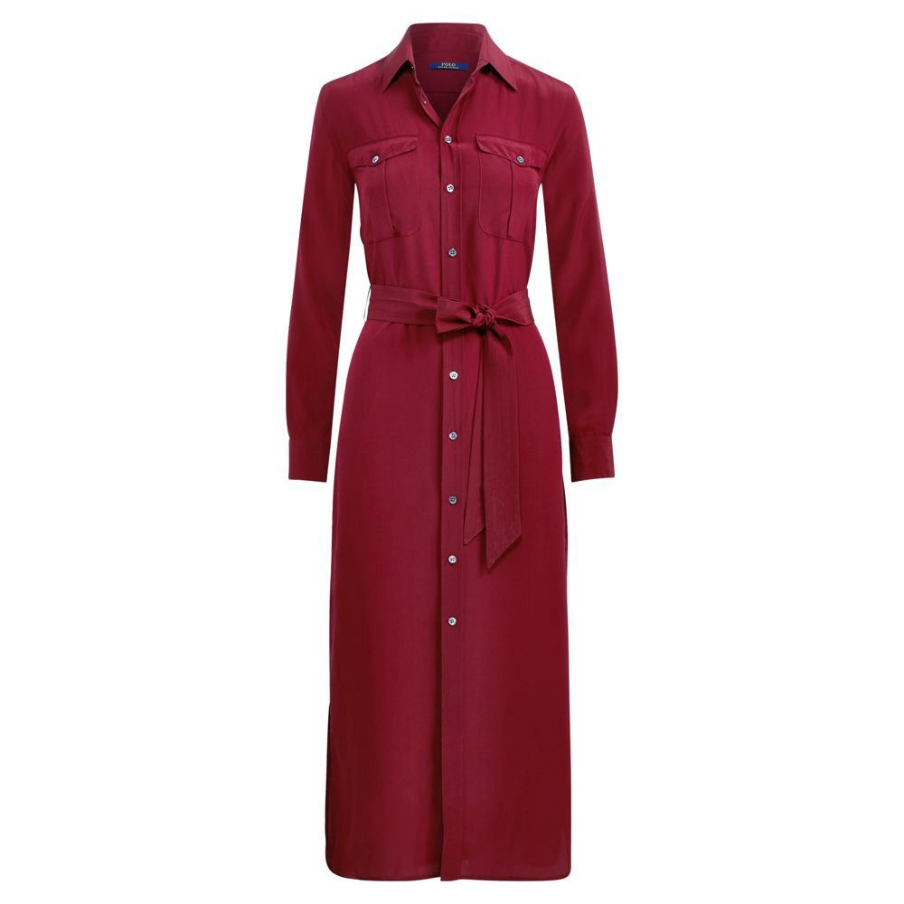 Ralph Lauren Polo Silk Crepe Shirtdress Ralphlauren Cloth