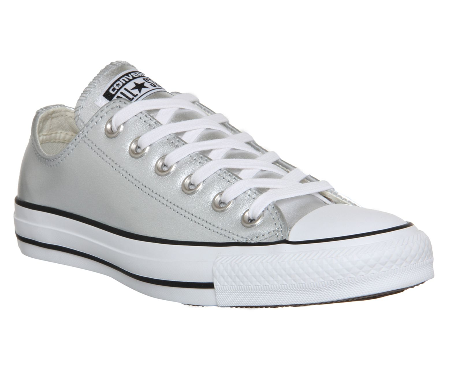 Silver Metallic Converse All Star Low Leather From Office Co Uk
