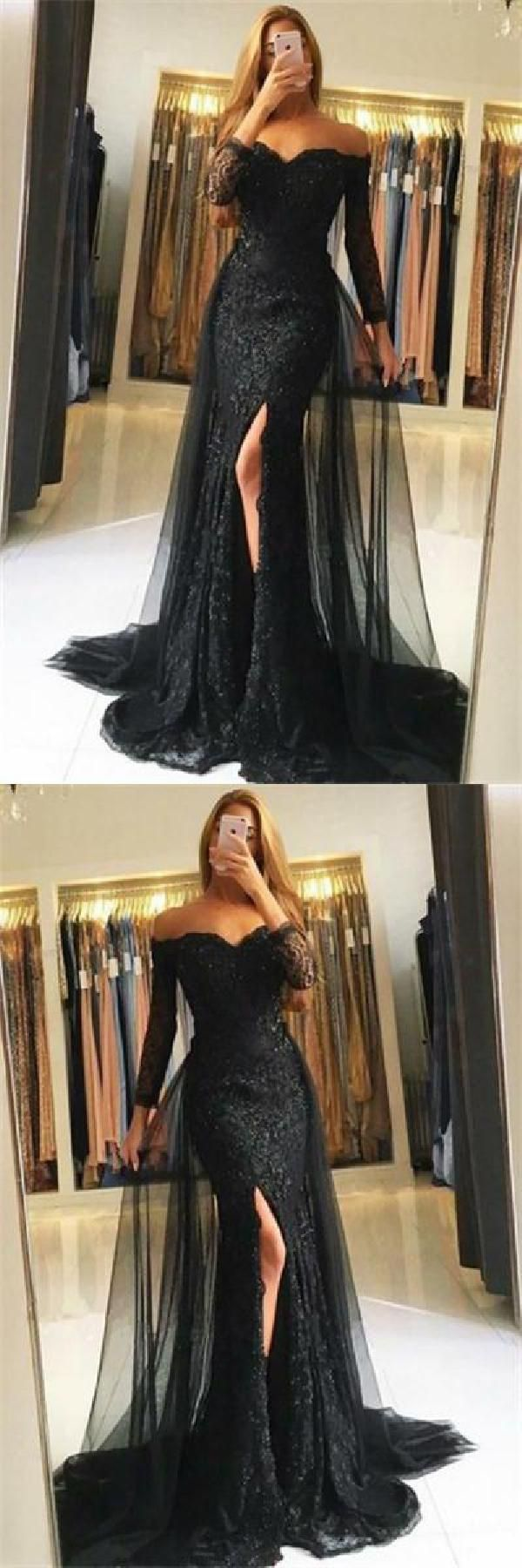 Comfortable prom dresses for cheap prom dresses with sleeves black