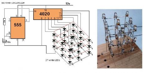 3x3x3 led cube circuit diy projects pinterest circuit diagram rh pinterest com