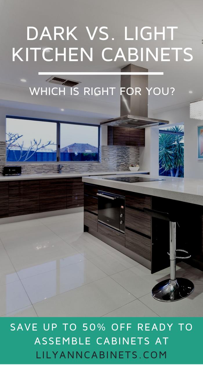 Dark Vs Light Kitchen Cabinets Which Is Right For You Light Kitchen Cabinets Kitchen Cabinets Dark Kitchen Cabinets
