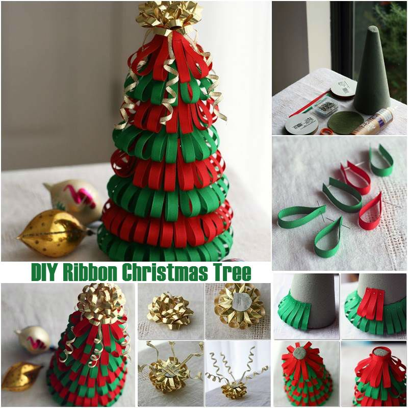 Diy ribbon christmas tree christmas trees have to be the most fun diy ribbon christmas tree christmas trees have to be the most fun diy craft ideas to solutioingenieria Choice Image
