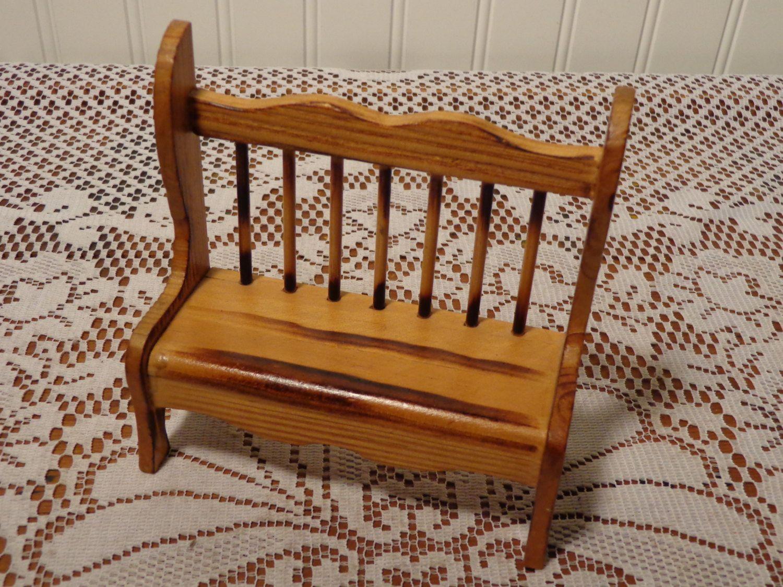 Surprising Vintage Small Wooden Doll Bench Wood Doll Furniture 16 Inzonedesignstudio Interior Chair Design Inzonedesignstudiocom