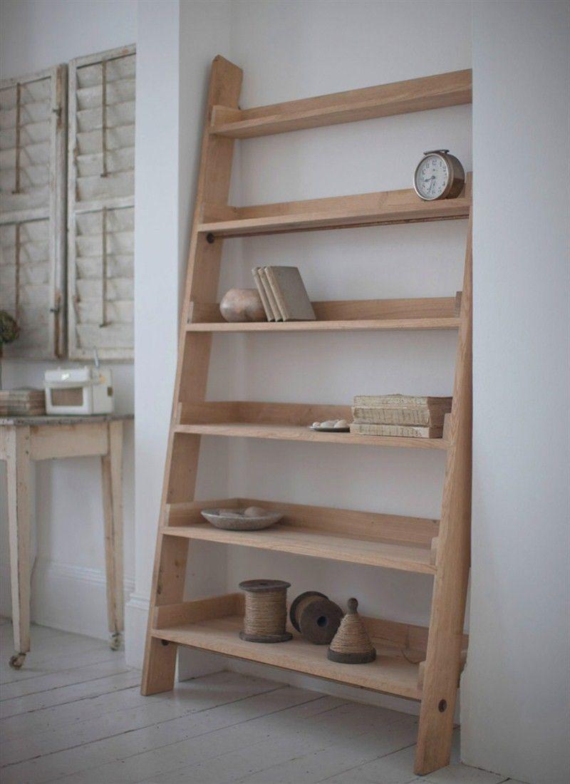 Oak Ladder Shelf Large Oak Shelves Shelves Oak Ladder Shelf