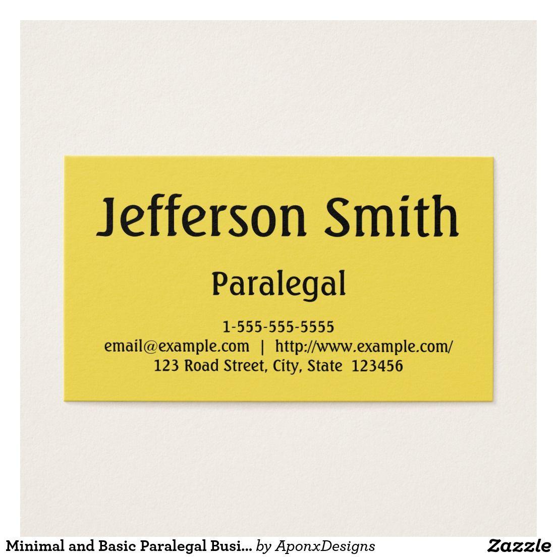 Minimal and basic paralegal business card paralegal business minimal and basic paralegal business card colourmoves