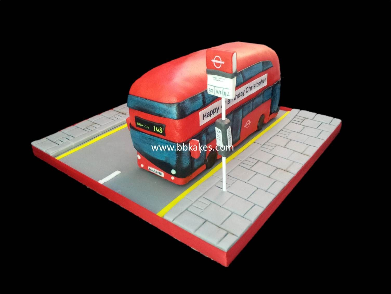 #London #Red #Route #master #bus #cake