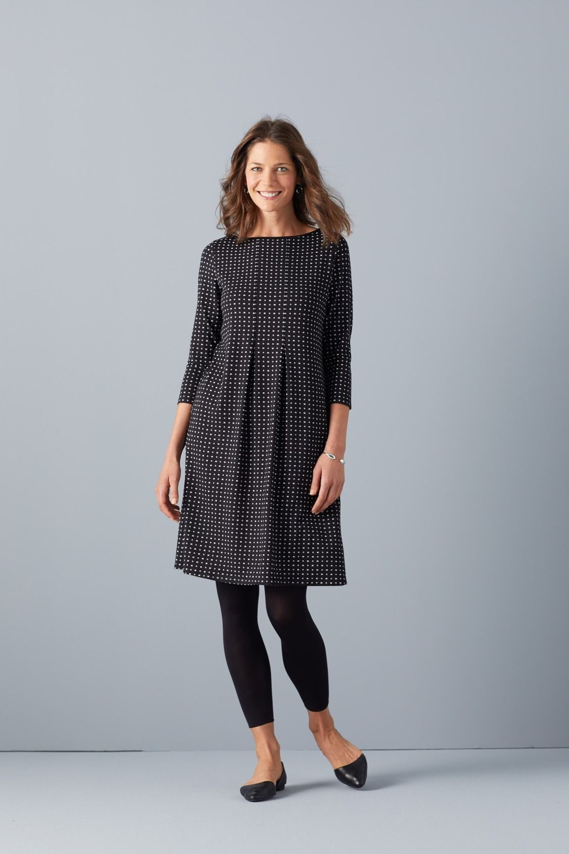 Wearever Center, Pleat Dress paired with the Ankle Length