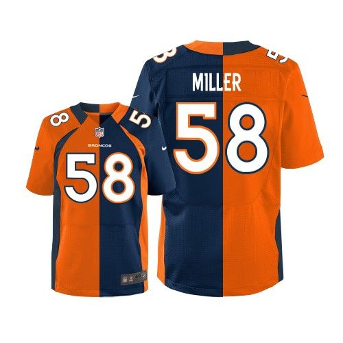 c877b01b25ec2 (Elite Nike Men's Von Miller Team/Alternate Two Tone Jersey) Denver Broncos  #58 NFL Easy Returns.