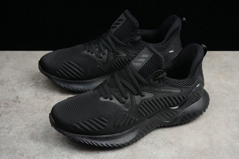 competitive price 15e8b dc1f2 2018 New Arrival Men Adidas Alphabounce HPC AMS 3M Triple Black Noir AC8271