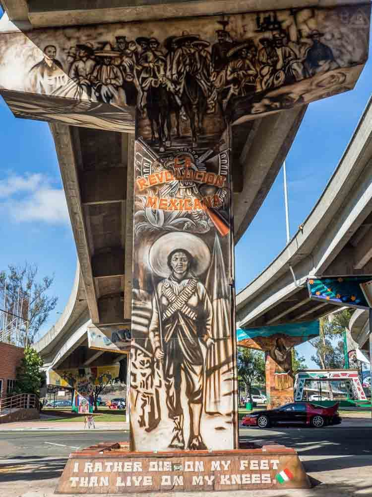 A visual pow at the san diego chicano park murals