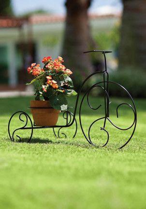 Floreira bicicleta de ferro jardim e quintal pinterest ferro decora o e artes em ferro - Bicicleta macetero ...