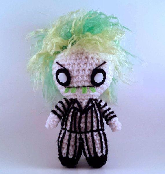 Beetlejuice Wedding Tux Inspired Crochet Plushie Amigurumi | Etsy | 599x570
