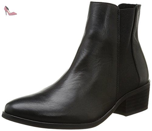 New Becca BootBottines Chelsea femme Leather Pieces Noir ZwOuPiTXk