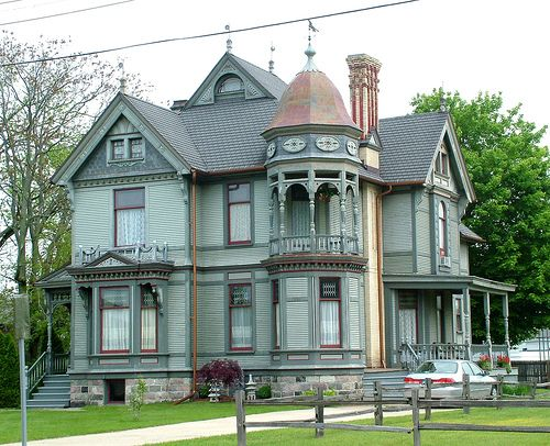 queen anne spindle style house includes elaborate