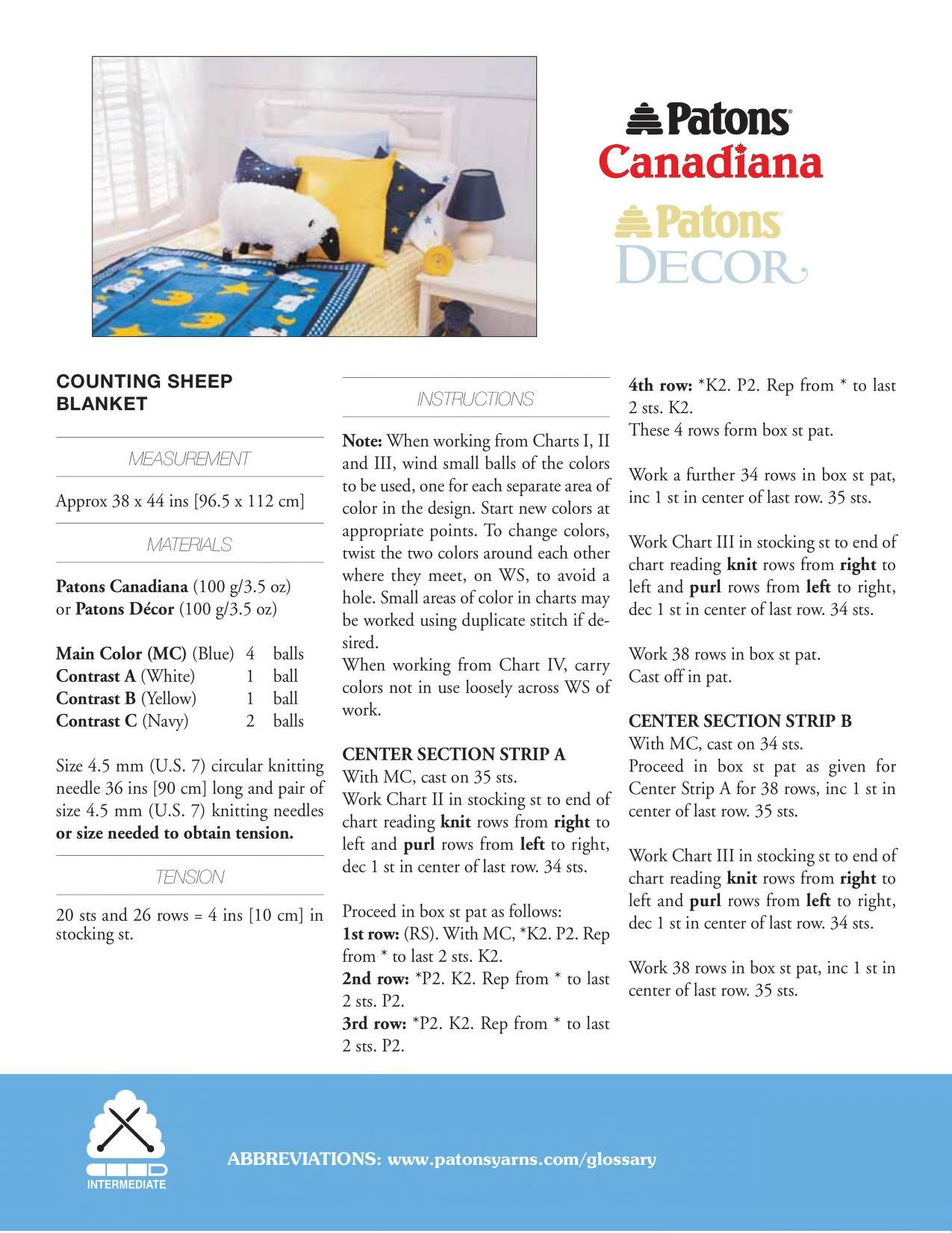 Patons Canadiana Counting Sheep Blanket Free Download