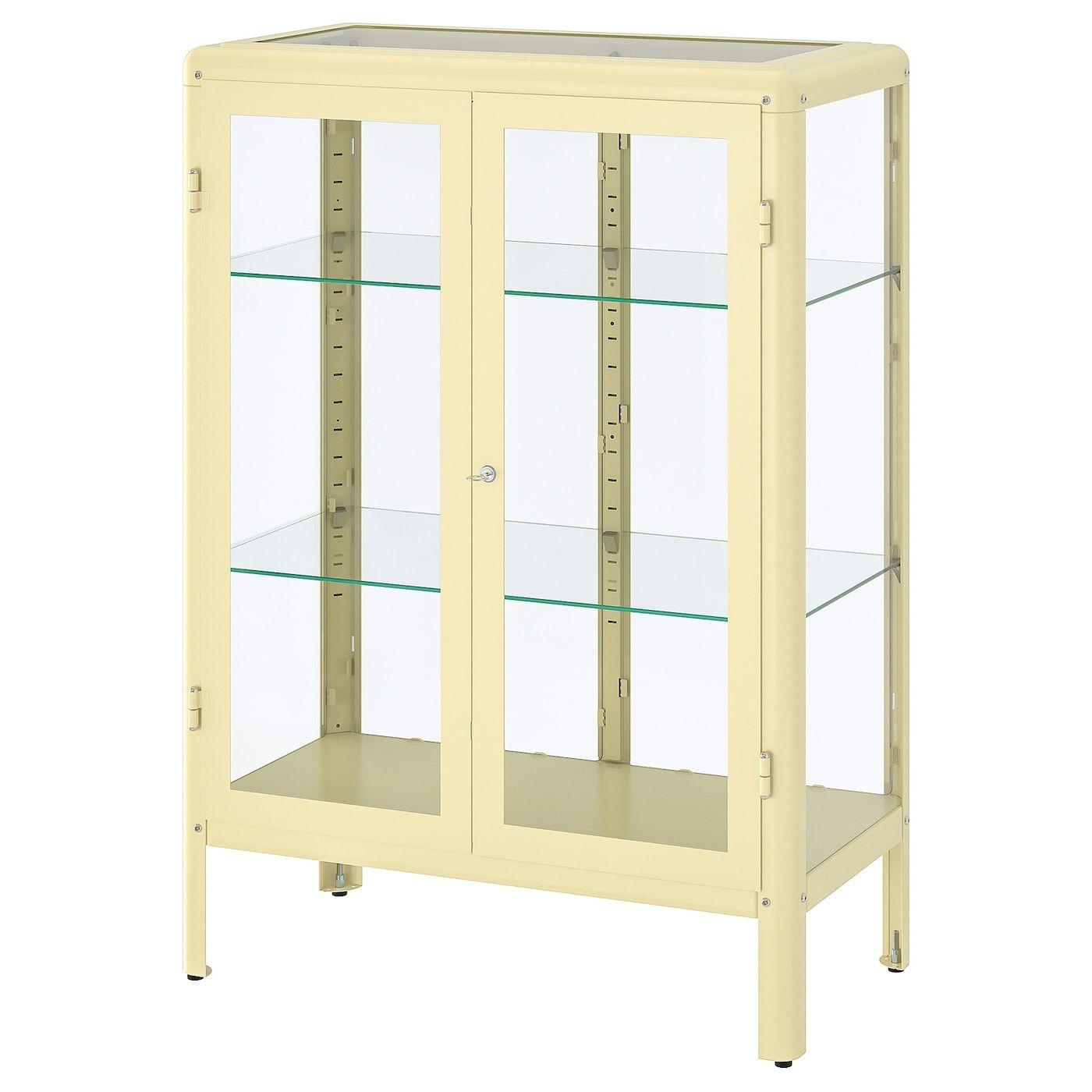 Fabrikor Vitrine Hellgelb 81x113 Cm Ikea Osterreich Glass Cabinet Doors Glass Door Sliding Glass Door