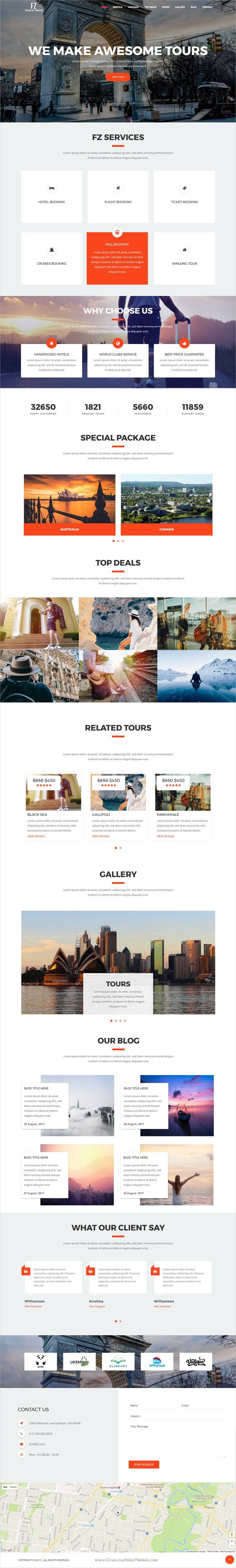 FZ is clean and modern design 4in1 responsive #bootstrap template ...