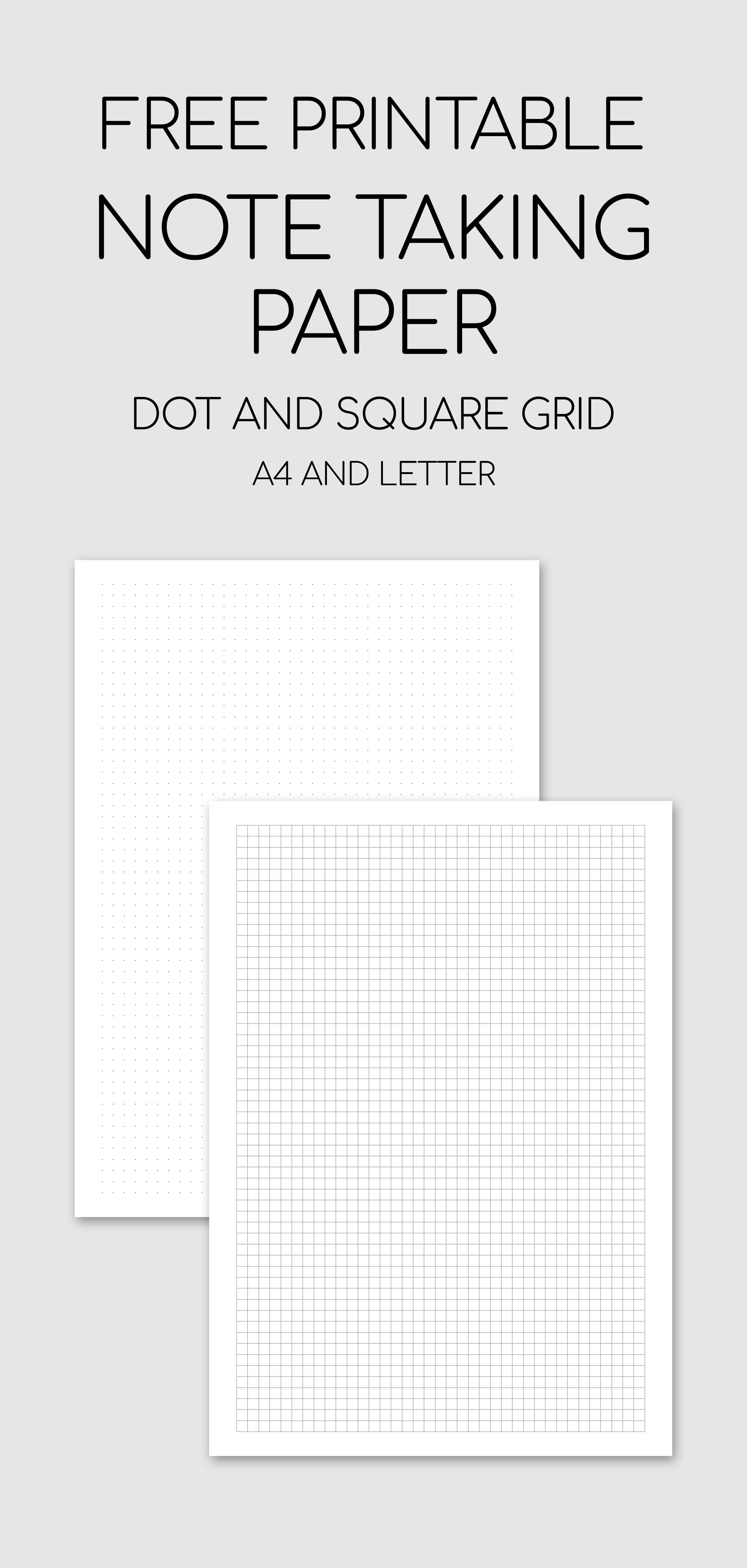 image about Free Printable Dot Grid Paper referred to as Free of charge Printable Take note Getting Paper - Dot And Sq. Grid #absolutely free