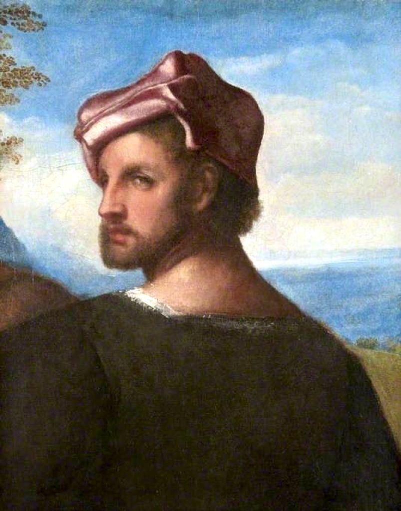 Tiziano Vecelli (Titian), Head of a Man, c. 1508-10