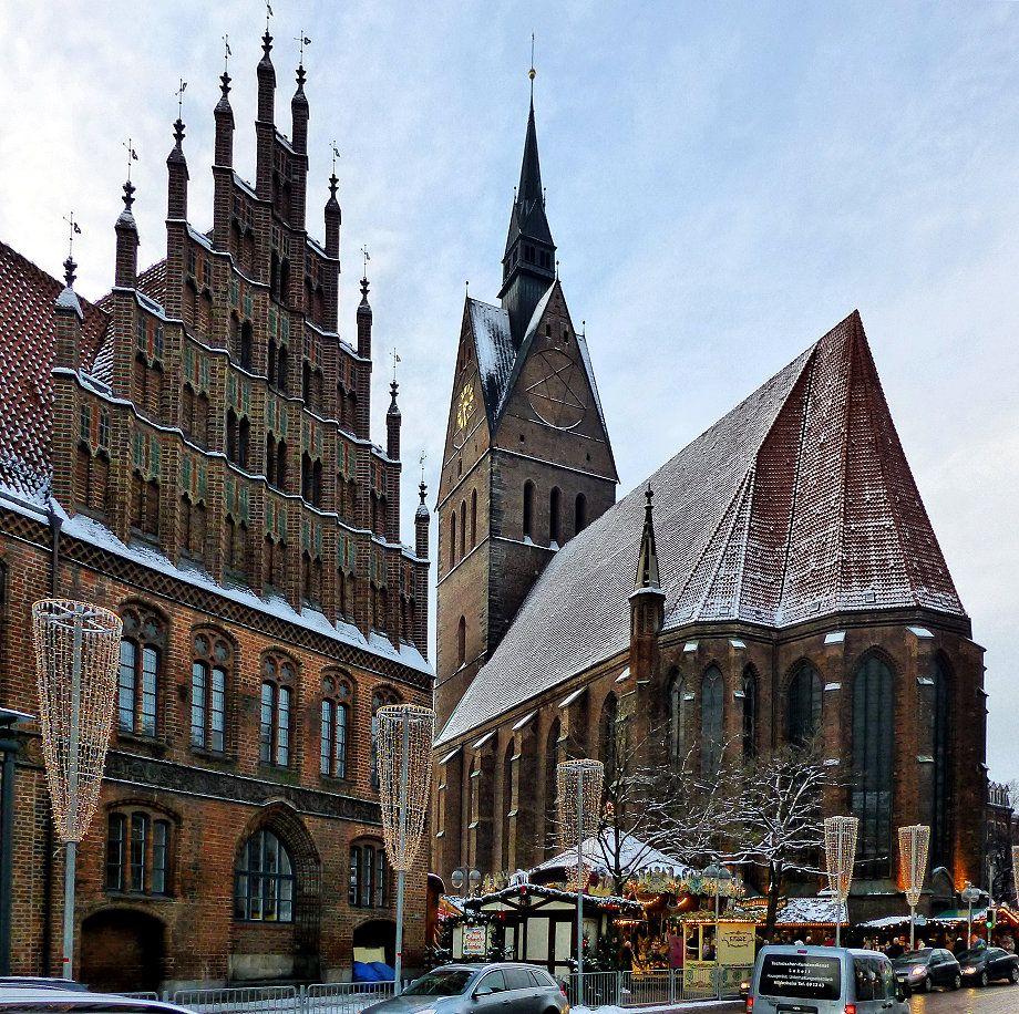 Hannover, Altes Rathaus mit Marktkirche und