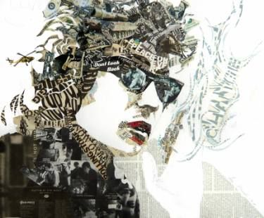"Saatchi Art Artist Ines Kouidis; Collage, ""Bob"" #art"
