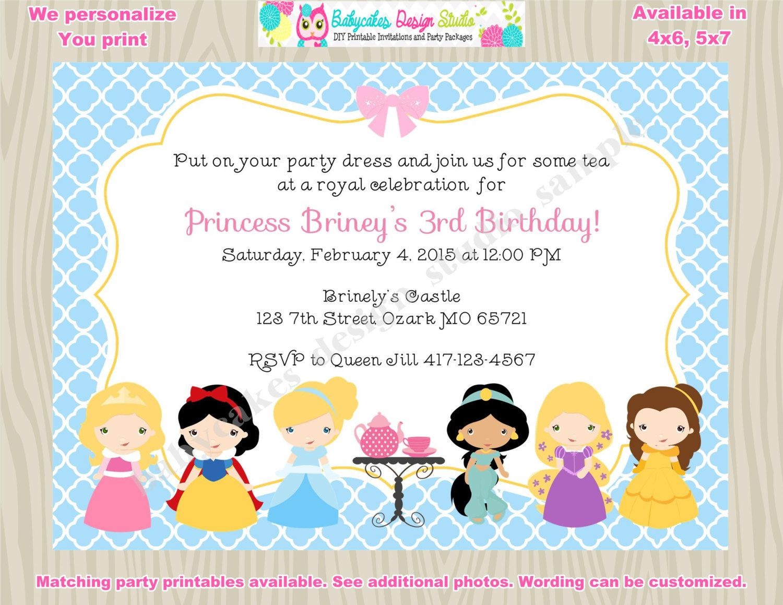 Princess Tea Party Invitation invite princess Tea Party Invitation ...
